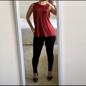 BCBG-  barn red tank top